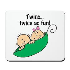 Twins Twice as Fun Mousepad