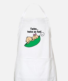 Twins Twice as Fun BBQ Apron