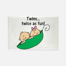 Twins Twice as Fun Rectangle Magnet