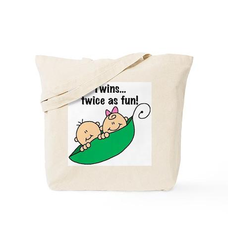 Twins Twice as Fun Tote Bag