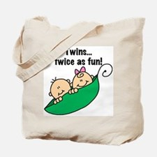 Twins Twice as Fun Tote Bag