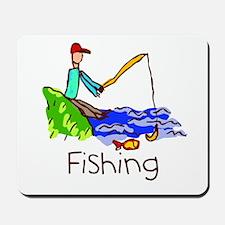 Kid Art Fishing Mousepad