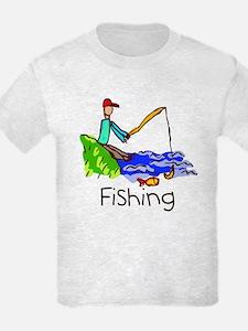 Kid Art Fishing T-Shirt