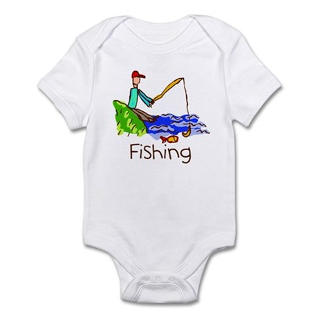 Kid Art Fishing Infant Bodysuit