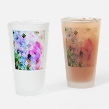 Pink/Blue Geometric Grungy Diamond Drinking Glass