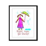 Kid Art Umbrella Framed Panel Print