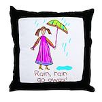 Kid Art Umbrella Throw Pillow