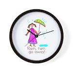 Kid Art Umbrella Wall Clock