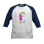 Kid Art Umbrella Kids Baseball Jersey
