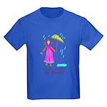 Kid Art Umbrella Kids Dark T-Shirt