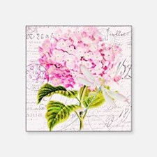 Pink Hydrangea and dragonfly Sticker