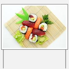 sushi asian japanese food photo Yard Sign