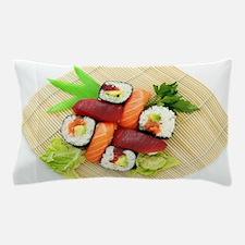 sushi asian japanese food photo Pillow Case