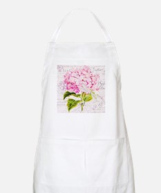 Pink Hydrangea and dragonfly Apron