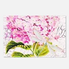 Pink Hydrangea and dragon Postcards (Package of 8)
