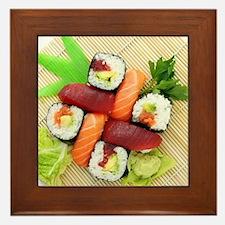 sushi asian japanese food photo Framed Tile