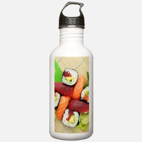 sushi asian japanese f Water Bottle
