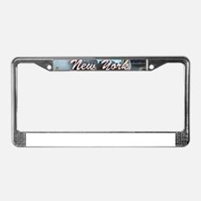 New York Pro Photo Montage-Stu License Plate Frame
