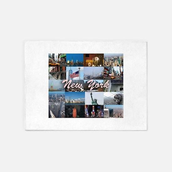 New York Pro Photo Montage-Stunning 5'x7'Area Rug