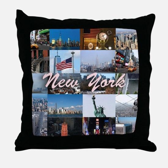 New York Pro Photo Montage-Stunning! Throw Pillow