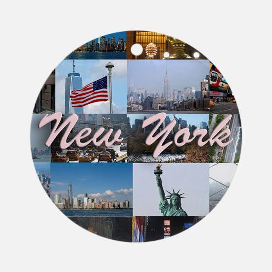 The New York City Photo Gallery Ornament (Round)
