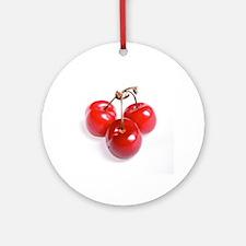 red white cherries photo Ornament (Round)