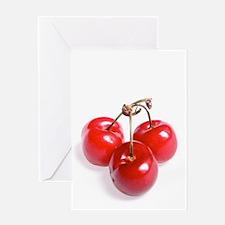 red white cherries photo Greeting Cards
