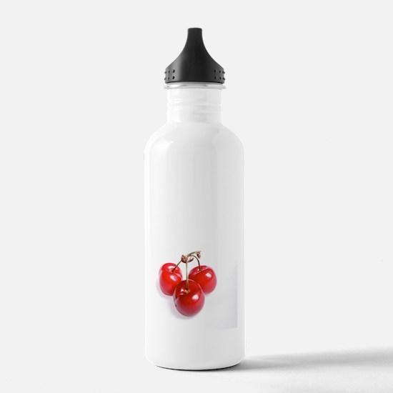 red white cherries pho Water Bottle