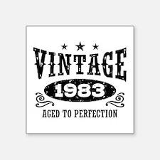 "Vintage 1983 Square Sticker 3"" x 3"""