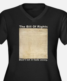 Bill Of Rights Fading Women's Plus Size V-Neck Dar