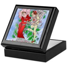 Crane's Blushing Rose Valentine Keepsake Box