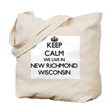Keep calm we live in New Richmond Wiscons Tote Bag