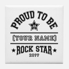 Family Rock Star Tile Coaster
