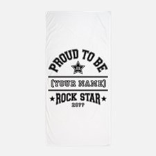 Family Rock Star Beach Towel