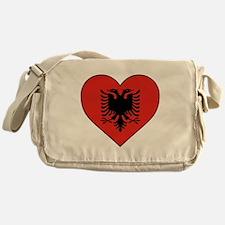 Albania Heart Messenger Bag