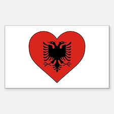 Albania Heart Decal