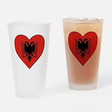 Albania Heart Drinking Glass