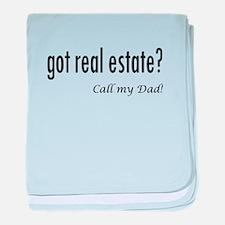 got real estate? Dad baby blanket