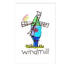 Kid Art Windmill Postcards (Package of 8)