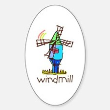 Kid Art Windmill Oval Decal