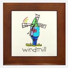 Kid Art Windmill Framed Tile