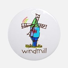 Kid Art Windmill Ornament (Round)