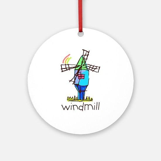 Kid Art Windmill Ornament (Round)