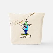 Kid Art Windmill Tote Bag
