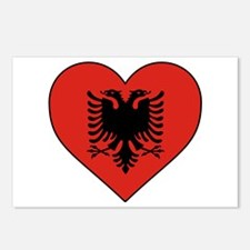 Albania Heart Postcards (Package of 8)