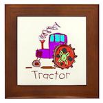 Kid Art Tractor Framed Tile
