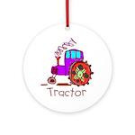 Kid Art Tractor Ornament (Round)
