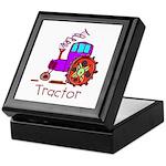 Kid Art Tractor Keepsake Box