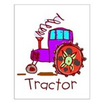 Kid Art Tractor Small Poster
