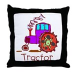 Kid Art Tractor Throw Pillow